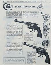 Colt Target Shooting Revolver Gun Art Officers Model Vintage 1950 Print Ad