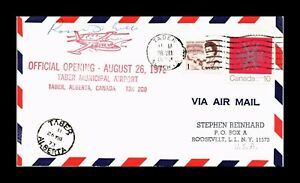 DR JIM STAMPS OFFICIAL OPENING TABER AIRPORT ALBERTA CANADA AIRMAIL COVER