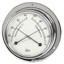 Cabin Equipment Thermometer/Hygrometer Analog BARIGO Tempo Chrome