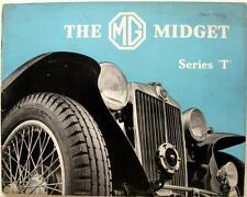 Mg Midget SERIE T ORIGINALE AUTO SALES BROCHURE Jan 1938