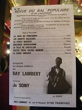 Partition Revue du Bal populaire et de l'Accordéon N°97 Ray Lambert Jo Sony