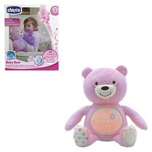 gioco giocattolo CHICCO peluche orso orsetto proiettore Baby Bear per bambina