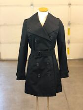 Authentic Burberry Short Trench Coat in black US size 2 w jacket cover