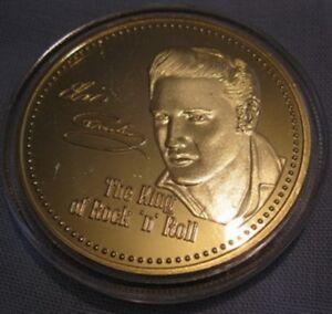 ELVIS PRESLEY Gold Coin Singa Viva Las Vegas Grace Lands Movie Films Medal Retro