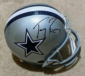 TONY ROMO Full Size Helmet Signed Auto Dallas Cowboys