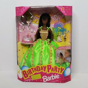 Vintage 1998 New Mattel Birthday Party African American Barbie Fashion Doll