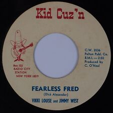 VIKKI LOUISE & JIMMY WEST: Birmingham Steel KID CUZ'N Country 45 Rare '68