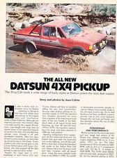 1980 Datsun 4x4 Pickup Truck Original Car Review Print Article J440