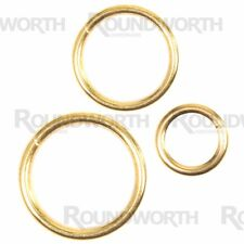 10x Large 32mm Brass Curtain Rings Polished Metal Rail Upholstery Hoop Glider