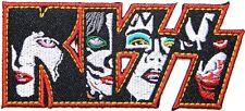 KISS Logo Skeleton Punk Rock Heavy Metal Music Band 10.4 x 4.4cm Iron Sew Patch