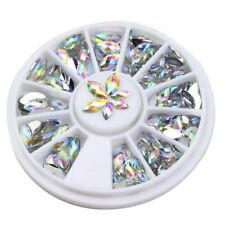 Mixed Size Clear Marquise Shape Crystal Gem Decoration Nail Art DIY UK
