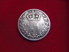 1898 VICTORIAN SILVER THREEPENCE FROM MY COLLECTION [Y59]
