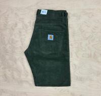 Carhartt Wip Klondike 12 wale Corduroy Regular tapered fit  Pant cypress Green