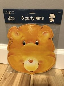 RARE Vintage Care Bear Party Hat NEW Supplies Tenderheart American Greeting 1989