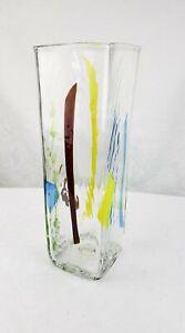 BLENKO VASE STAINED GLASS SERIES VASE MULTI COLOR MCM ART GLASS