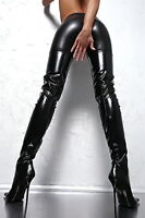 1969 Long Overknee Leather Stretch MADE IN ITALY  High Heels Z29 Boots Stiefel