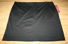 NWT Womens Black Stretch Extensible Spandex Blend Skirt by Merona Size 18