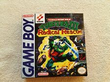 Turtles 3 Radical Rescue GB Custom Art case only, no game included