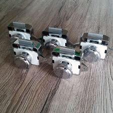 5 X Grande Efecto Cromo Push Lock Para Caravanas Autocaravana Caravana Puerta
