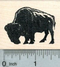 Bison Rubber Stamp, American Buffalo in Silhouette G32816 WM