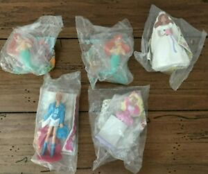 McDonalds Kids Happy Meal 1990s Barbies Lot of 5 Little Mermaid  New In Packages