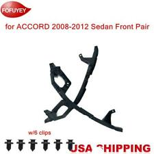 For Accord Sedan 2008 2012 Headlight Bracket Bumper Fr 2pc Retainer Hold Mount Fits 2008 Honda Accord