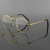 Retro Vintage Oval Women Men Eyeglasses Frame Spectacles Clear Plain Glasses Rx
