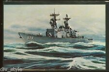 USS Comte De Grasse DD-974 postcard US Navy ship destroyer (cd1)