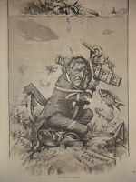 1877 Harper's Weekly Nast February 3 Tammany reforms lie on the ocean bottom