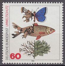 Germany Bund BRD 1981 Mi 1087 ** Umweltschutz Environment Protection Fisch Fish