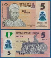 NIGERIA 5 Naira 2009 (Polymer) UNC  P. 38 b