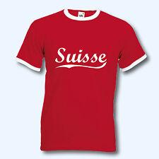 T-Shirt Retro-Shirt, WM Schweiz Suisse, Ringer T