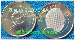 3 euro 2012 SLOVENIA bimetallico SLOVENIE Cvetko 100 anni medaglia olimpica