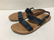 K JACQUES - 'Barigoule' Snake Effect and Navy Blue Leather Sandals - Sz 40