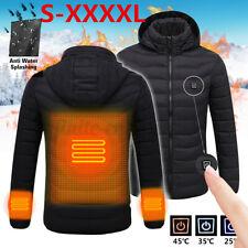 🇦🇺 M/L/XL/XXXL Men Women USB Electric Heating Coat Hooded Heated Jacket Skiing