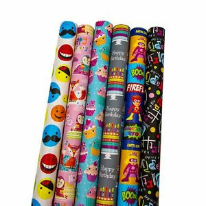 The Gift Wrap Company Wrapping Paper, 6 Piece