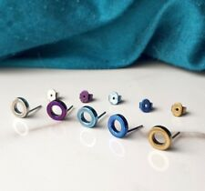 Titanium Circle Earring Studs, Hypoallergenic Nickel Free, by Catlogix