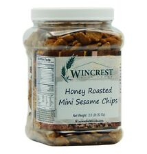 Honey Roasted Sesame Chips - 2 Lb Tub - Free Expedited Shipping!