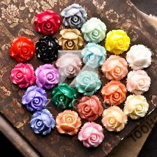 12/24pcs Resin Flatback Cabochons Cameo Flower Craft Embellishments 15x15x8mm