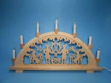 Schwibbogen Lichterbogen 7 Lampen aus Holz Bergmann erzgebirgische Tradition neu