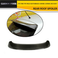 Rear Roof Spoiler Wing Lip Fit For Volkswagen VW Polo 6R Carbon Fiber 2013-2017