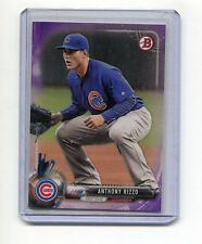 ANTHONY RIZZO CHICAGO CUBS 2017 BOWMAN PURPLE BASEBALL CARD #175/250