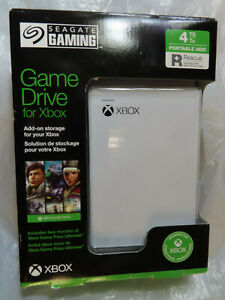 SEAGATE 4TB PORTABLE HDD GAME DRIVE FOR XBOX WHITE BRAND NEW, FACTORY SEALED