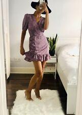 Lilac Floral Wrap Dress Fits Reiss Size S UK 8|10