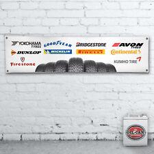 TYRES BANNER workshop / garage / showroom / mancave  1700x430mm