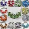 5X Glass Murano Big Hole Lampwork Loose Spacer Bead Fit European Bracelet Craft