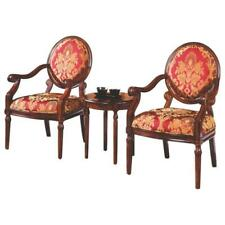Best Master 3-Piece Traditional Birch Wood and Fabric Living Room Set in Walnut
