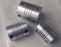 3pc 10 MM x 12 MM Flexible Shaft Ballscrew Coupler Coupling Linear Motion 25D30L