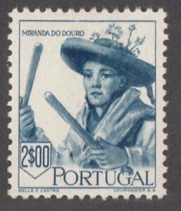 Portugal #681 mint $2 Miranda do Douro Musician Woman's Costume 1947 cv $65