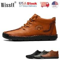 Men's Leather Shoes Boots Casual Loafers Formal Dress Work Shoes Flats Moccasins